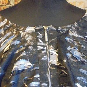Isabel Tops - Isabel Layered Long Sleeve Ruffled Zip Down Top